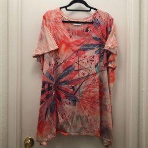 Avenue v-neck embellished top. Size 26/28